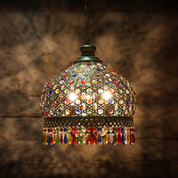 Led E27 Bohemian Iron Crystal LED Lamp LED Light Pendant Lights Pendant Lamp Pendant Light For