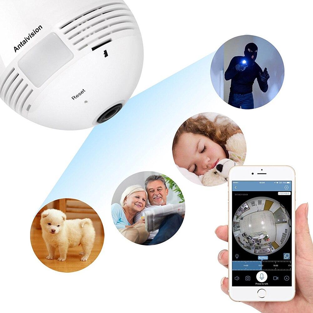 SIFREE CCTV 3D VR Caméra 1.3MP 360 degrés Sans Fil IP caméra Ampoule Lumière FishEye Maison Intelligente de Sécurité À Domicile WiFi Caméra panoramique