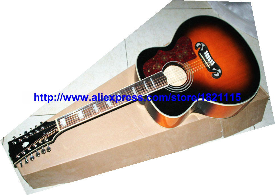custom 12 strings acoustic guitar vintage 200 style guitar wholesale guitars from china factory. Black Bedroom Furniture Sets. Home Design Ideas