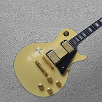 Cream yellow color hardware guitarra Adjustable Quality Custom shop Top Quality LP Custom Shop The real picture