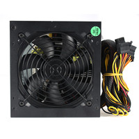 High Quality 1000W Computer PC Power Supply For CPU Active PFC Efficient 2 PCIE LED Fan