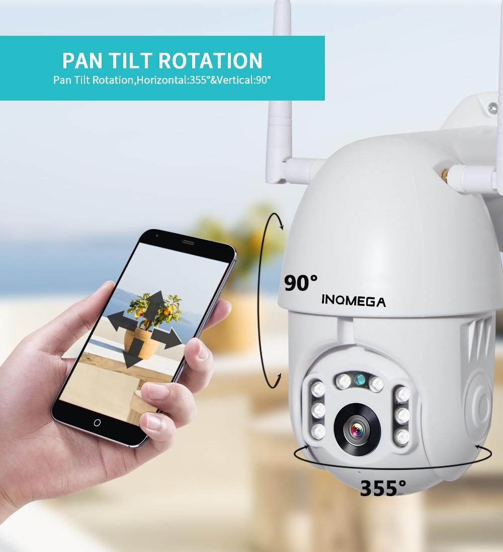INQMEGA 1080P IP Camera WiFi  Wireless Auto tracking PTZ Speed Dome Camera Outdoor CCTV Security Surveillance Waterproof Camera 5