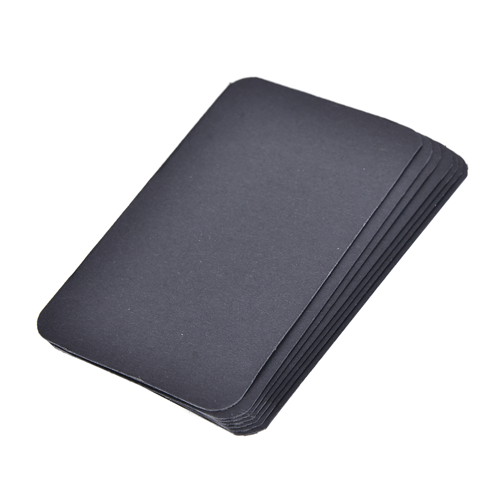 New 100pcs/lot Diy Business Noted Blank Kraft Card Retro Style Paper Thick Black White Brown Paper Word Cards Office & School Supplies Calendars, Planners & Cards