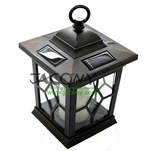 ... Hanging Solar Garden Lantern+Metal Holder+100% Solar Powered Green  Energy+1 ...