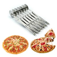 Stainless Steel Pizza Cutter Dough Cutter Divider Pasta Rocker Pizza Pastry Roller Cake Knife Kitchen Baking Tool