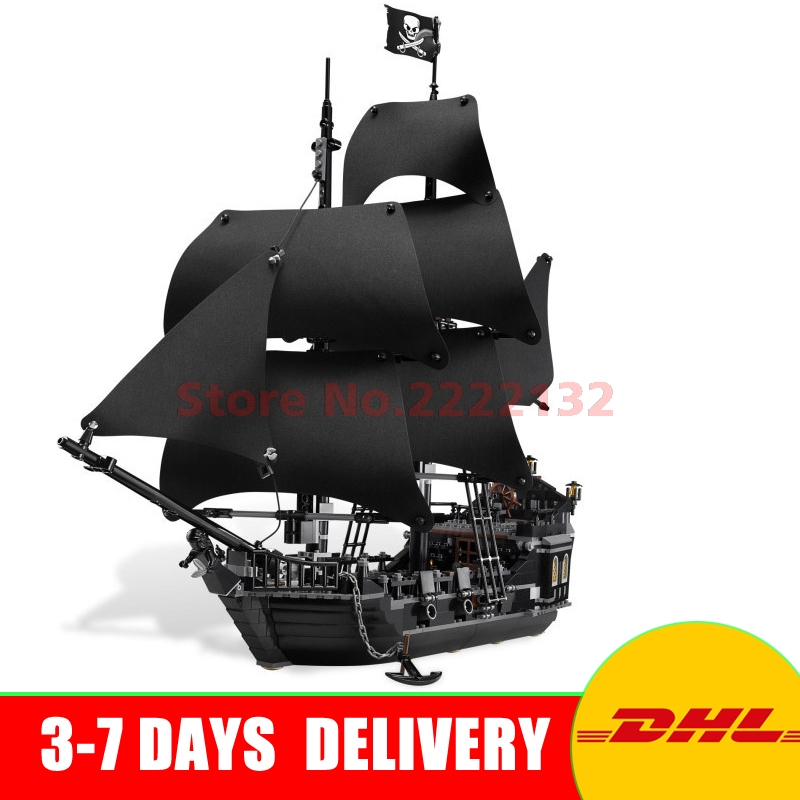 DHL Free LEPIN 16006 Pirates of the Caribbean The Black Pearl Building Model Blocks Set Set Toys Compatible with 4184 More Stock lepin 16006 16016 pirates of the caribbean 16009 queen anne s revenge legoinglys 70618 black pearl model building kits blocks