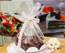 """24 ピース 6 """"シフォンケーキバッグ、ボードベーカリーギフト包装/クッキー包装"""