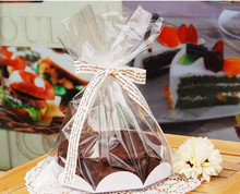 """24 Pcs 6"""" Chiffon Cake Bag With Board,For Bakery Gift Packing / Cookie Packaging"""