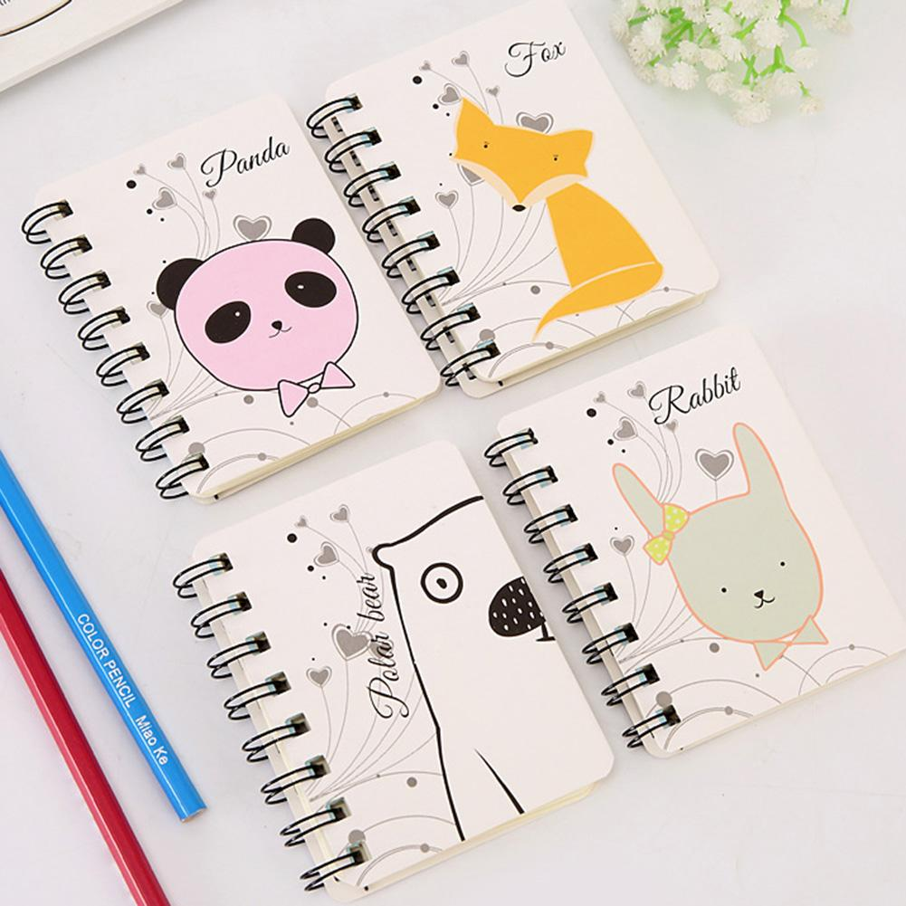 New 80sheets Mini Cute Cartoon Animal Spiral Notebook Coil Book Office School Supply