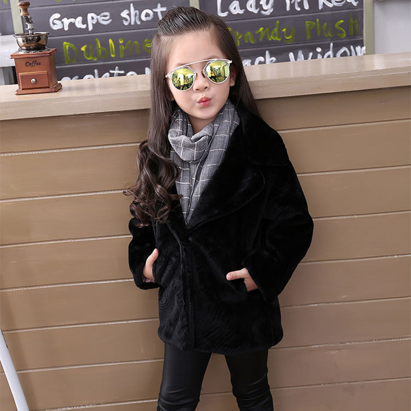 New 2017 Children Real Rabbit Fur Coat Kids Girls Winter Warm Solid Natural 100% Rabbit Fur Coat Baby Outerwea Jacket for Girls 2017 new children caps winter baby girs beanies 22cm real fur pompoms warm wool knitted cap kids warm caps lovely ears gorros