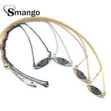 5Pieces, The Rainbow Series ,Women Fashion  The Eyes Shape Necklace, 4 Colors,Can Wholesale