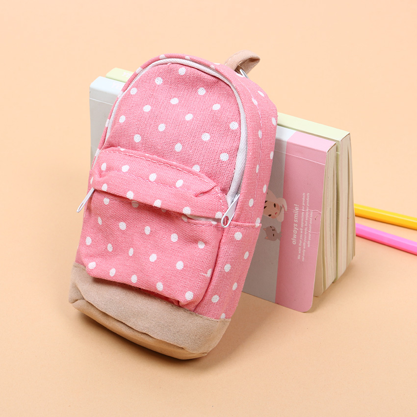 1 PC Dot Pattern Pencil Case Big Capacity Pencil Bag Cute Simple Pencil Box School Stationery Supplies in Pencil Cases from Office School Supplies