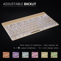 Universal 7 12 Tablet Wireless Keyboard KEMILE 7 Color Backlit LED Wireless Bluetooth QWERTY Keyboard With