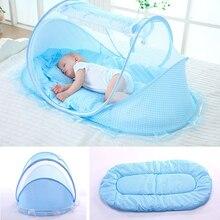 Cuna de bebé malla portátil plegable cama de bebé Mosquito Net poliéster recién nacido cama de viaje de malla de tienda de los niños