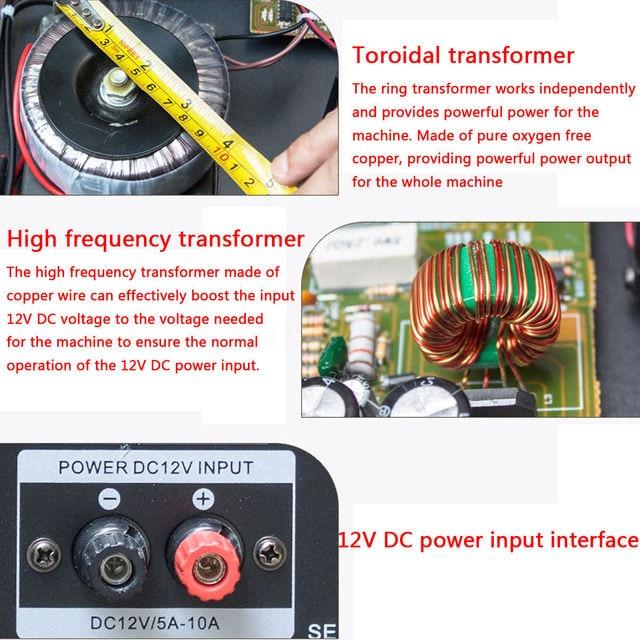 bluetooth 2.0 Channel 2000W Audio Power HiFi Amplifier  3
