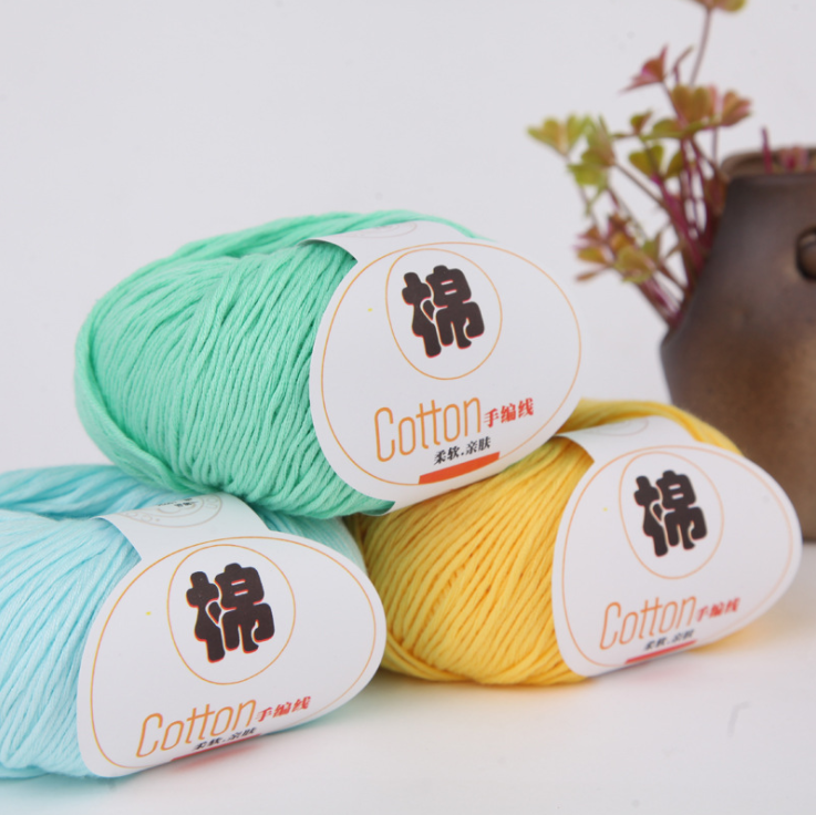 Mylb50g/ball High Quality Warm DIY 100% Cotton Yarn Baby Wool Yarn For Knitting Children Hand Knitted Yarn Knit Sweater Crochet