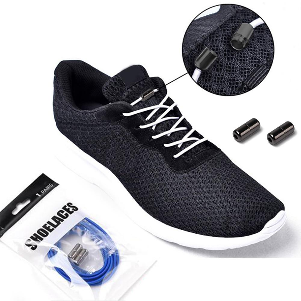 Hot Sale New Elastic No Tie Locking Shoelaces Running Athletic Sneaks Shoelaces