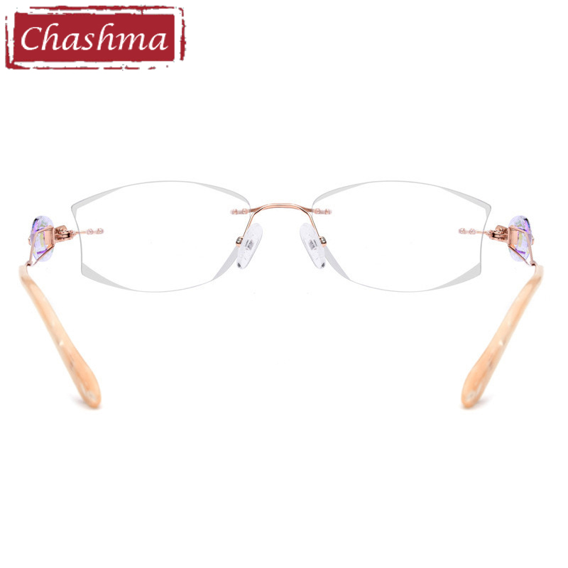 Rahmen Marke Licht Oculos Qualität Brillen Titan Gold Feminino Chashma Mode Grau Brille Super Armaca Randlose Luxuriöse De FqwndvB