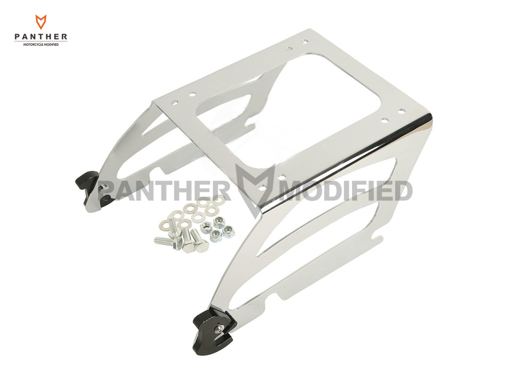 купить Chrome Motorcycle Solo Tour Pak Mounting Traveling Pack Moto Luggage Rack case for Harley Softail Deluxe Fat Boy FLSTC FLSTN по цене 5257.57 рублей