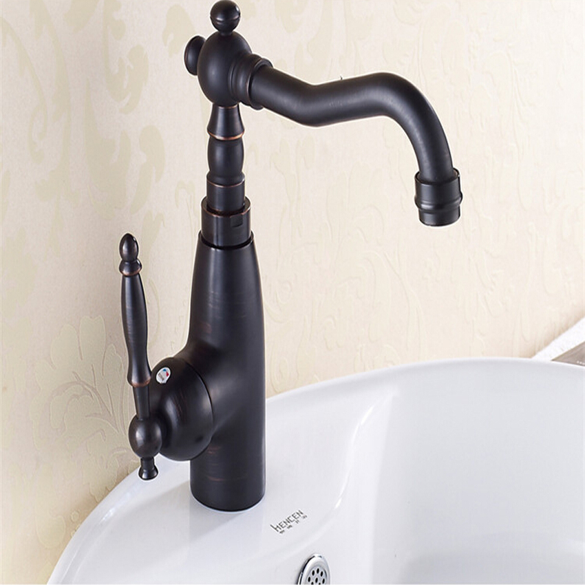 1 PC Kitchen/Bathroom Swivel Brass Faucets Bathroom Faucet Sink Basin Mixer Tap black Antique Brass 360 swivel kitchen faucet antique brass chrome polish double handle bathroom basin sink mixer tap faucets