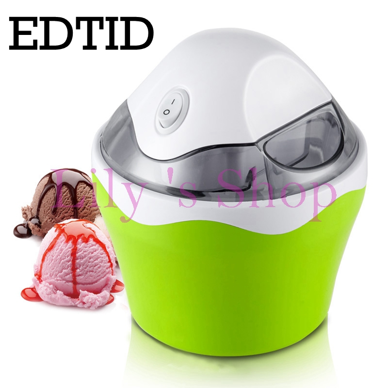 Fruit ice cream making machine home electric MINI DIY icecream maker tool Automatic household for kids children 0.5L EU US plug stainless steel electric ice shavers crusher chopper ice slush maker icecream snow cone ice block breaking machine eu us plug