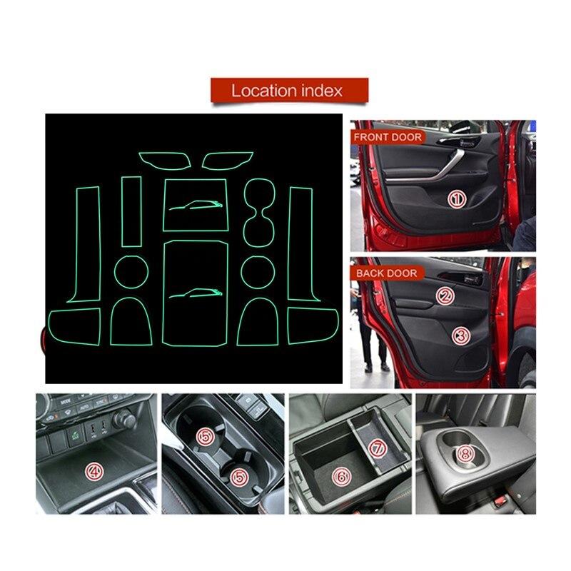 FIT FOR Mitsubishi Eclipse Cross 2017 2018 2019 Interior Door Car Storage Box Pad Car Water Mats Mats Car Door Gap Pad Mat