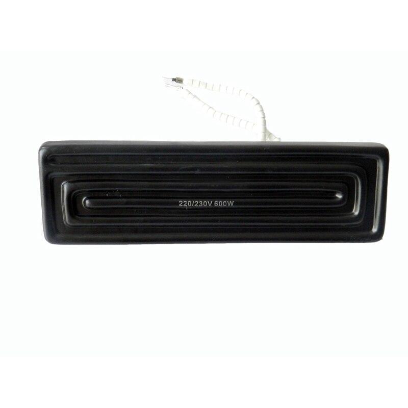 Freeshipping 600 W 240mm x 60mm bottom Infrared Ceramic plate calefacción calor para BGA Estación 4 unids/set