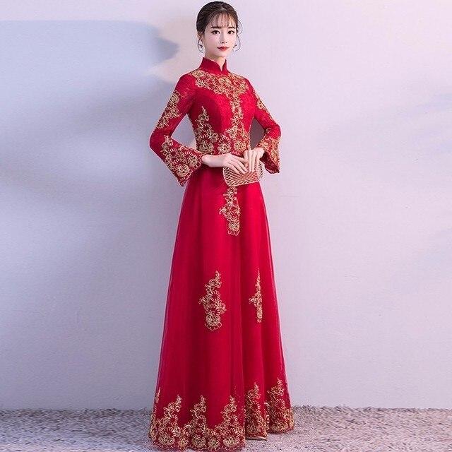 Modern Chinese Wedding Dress Robe Longue Chinoise Qipao Cheongsam ...