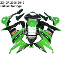 Custom ZX10R 2008 For Kawasaki Ninja ZX10R 08 10 2008 2009 2010 ZX 10R fairing kit fairings [XX004]