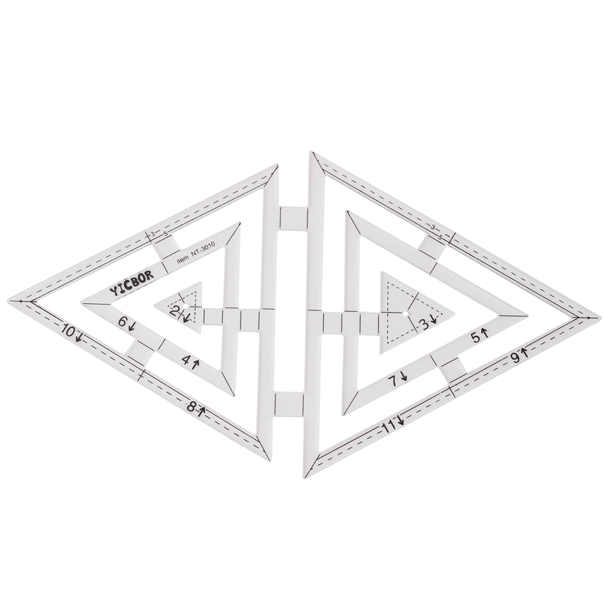 DIY Tools Sewing Parts Ruler Patchwork Rules  Quilting Rules Double Triangular Rule Twin Ruler(NT-3010)DIY Tools Sewing Parts Ruler Patchwork Rules  Quilting Rules Double Triangular Rule Twin Ruler(NT-3010)