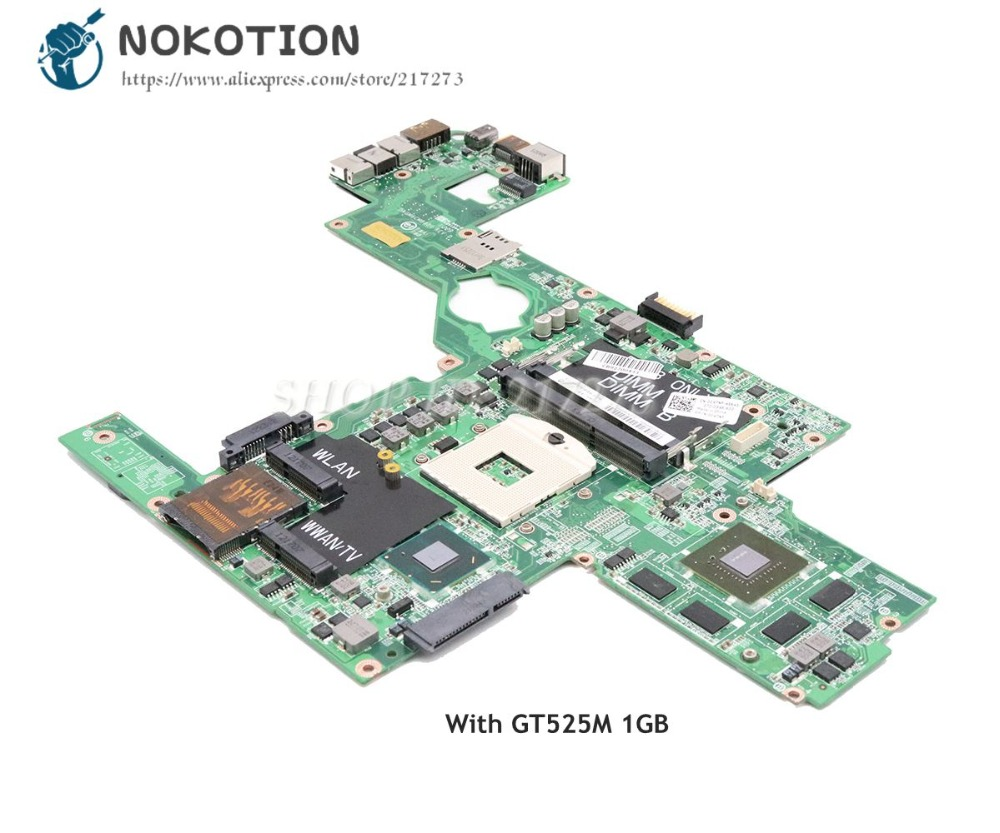 NOKOTION CN-0C47NF 0C47NF Main Board For Dell XPS 15 L502X PC Motherboard DAGM6CMB8D0 HM67 DDR3 GT525M Video card 1GB nokotion cn 0j2ww8 laptop motherboard for dell inspiron n5110 nvidia gt525m 1gb graphics hm67 ddr3 core i7 mainboard
