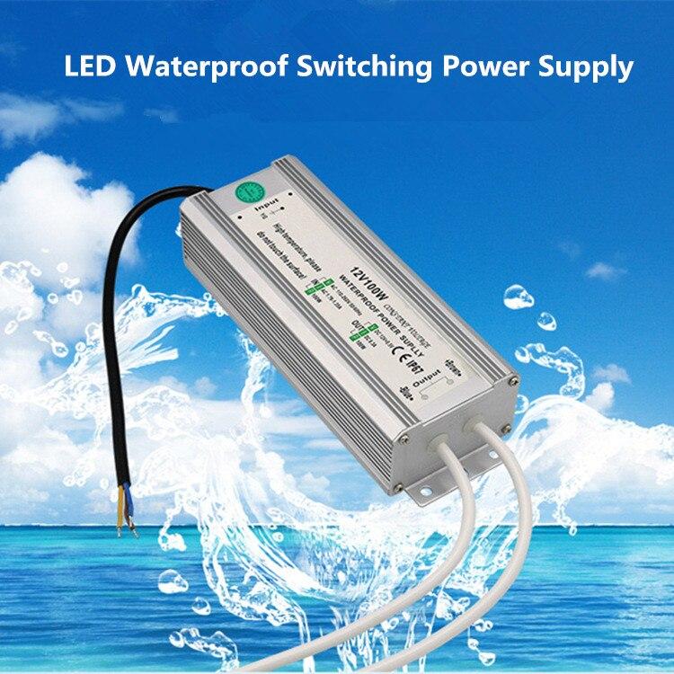 Led Dc Transformer Dc12v/Dc24v Waterproof Switch Power Supply 20w 30w 50w 60w Pool Fountain Input Ac110v 220v Transformer Ip68