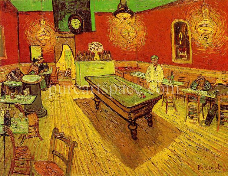 The Night Cafe With Pool Table By Vincent Van Gogh Handmade Oil Painting Art On Canvas