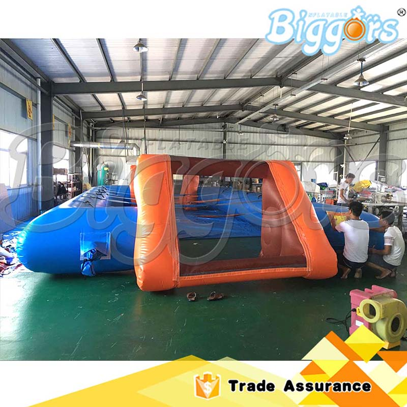 Sea Shipping Outdoor Inflatable Interactive Game Human Table Football Game Soccer Field sea shipping giant commercial inflatable kids soccer court football field with blowers