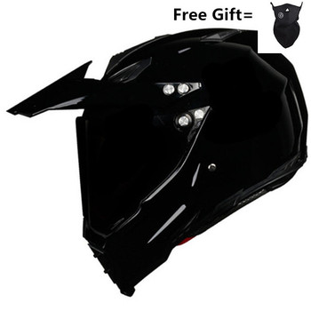 цена на HOT SELL Gloss black Helmet Motorcycle Racing Bicycle Helmet  ATV Dirt bike Downhill MTB DH cross Helmet capacetes S M L XL XXL