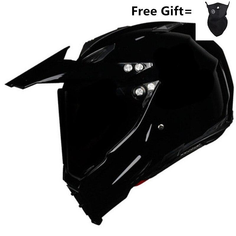 Vente chaude brillant noir casque moto course vélo casque ATV Dirt vélo descente vtt DH cross casque capacetes S M L XL XXL