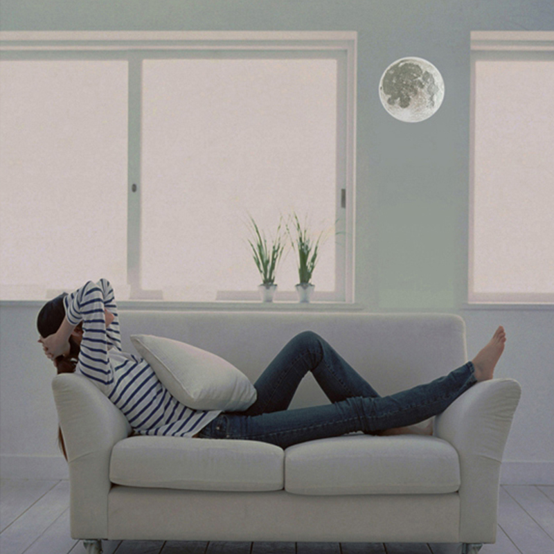 Led Wall Moon Night Lamps Indoor Relaxing Healing LED Wall Moon Lamp Novel Nightlights Led Wall Lights with Remote Control
