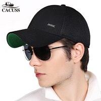 CACUSS 2017 Baseball Cap Men Summer Solid Mesh Caps Adjustable Snapback Cotton Hip Hop Hats For