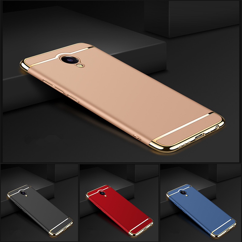 Luxury Gold Removable 3 in 1 Hard Plastic Case For MEIZU M5 Note Meilan Note 5 case PC Plating Matte Cover For Meilan Note 5