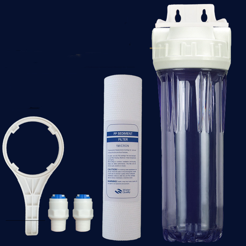10 Inch Pre Filter Wrenches Water Filter Housing PP Cotton Connection From 2 To The Aquarium Aquaristics