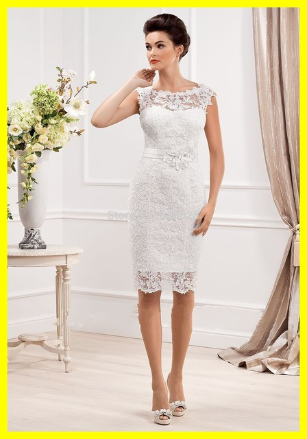 654caa83f98 Rockabilly Wedding Dress Nicole Miller Dresses Short Uk Beach Sheath  Knee-Length None Lace Scoop Cap Sleeve 2015 Free Shipping