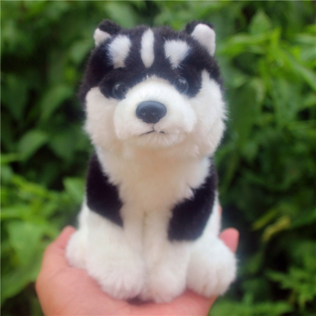 16cm Lovely Soft Mini Simulation Animal Alaskan Malamute Plush Toy