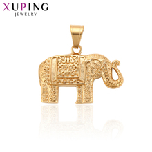 Xuping Fashion Jewelry Exquisite Elephant Shape Pendant of Animal style for Girl Halloween Thanksgiving Gifts S119,1-34199 11 11 deals xuping fashion figure shape pattern jewelry sets gold color plated jewelry thanksgiving gifts for women s122 65105