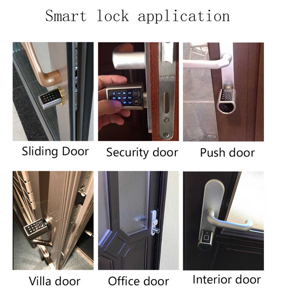 Smart Silinder Kunci dengan Aplikasi Tanpa Kunci Kunci Pintu Elektronik Bluetooth Kunci Digital Kode Kartu RFID Kunci Listrik