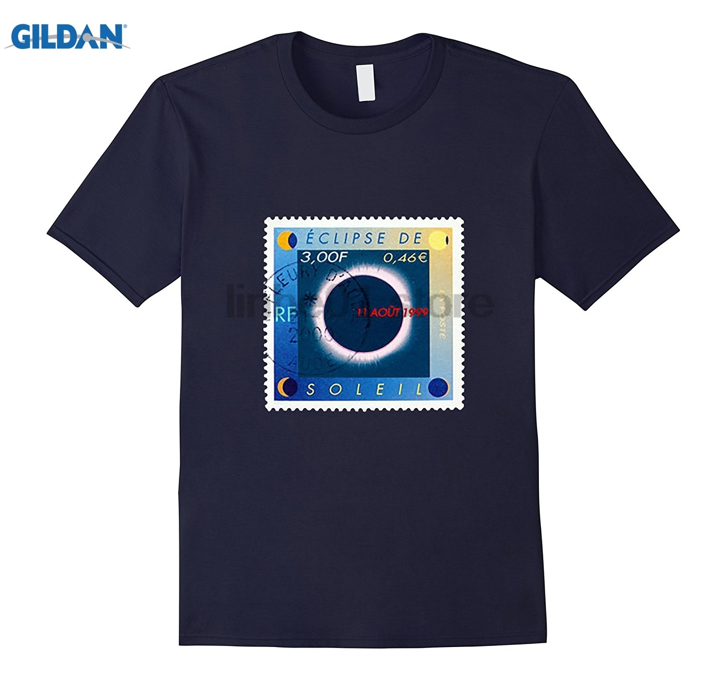 GILDAN Eclipse De Soleil Shirt, Solar Eclipse, Stamp Collector sunglasses women T-shirt