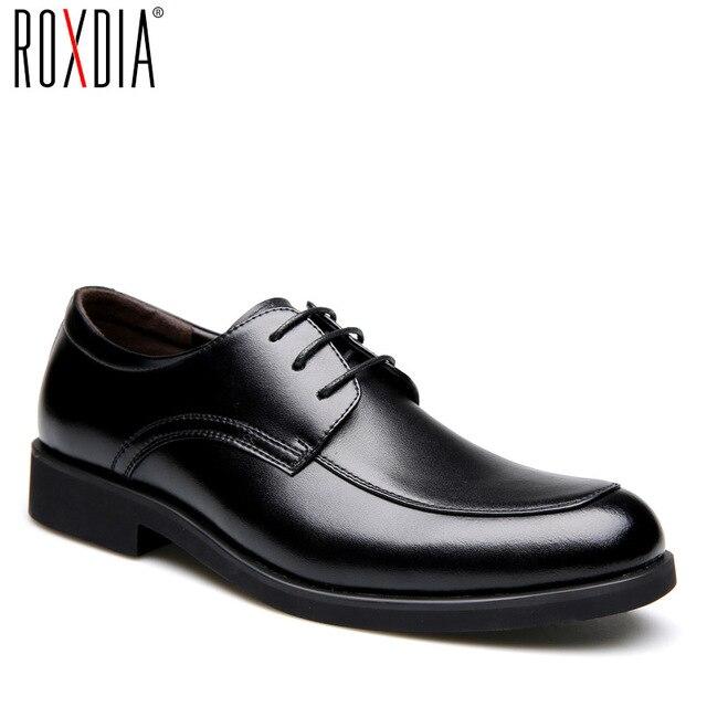 حذاء رجالي من الجلد الطبيعي من ROXDIA حذاء رجالي للعمل الرسمي حذاء أكسفورد للرجال طراز RXM063 بمقاسات 39 44