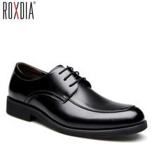 Roxdia Echt Lederen Heren Kleding Schoenen Formele Zakelijke Werk Mannelijke Flats Mannen Oxford Schoenen RXM063 Size 39 44