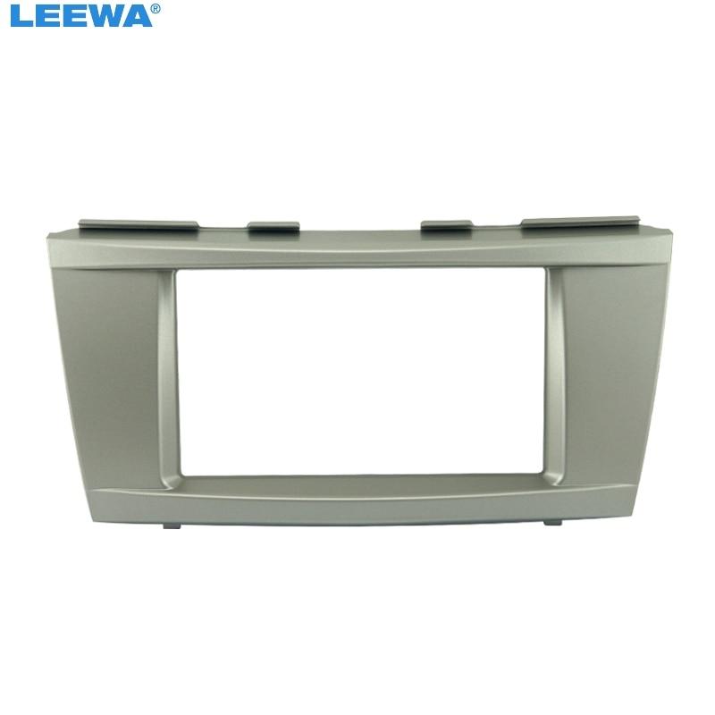 LEEWA Free shipping-Car refitting DVD frame,DVD panel,Dash Kit,Fascia,Radio Frame,Audio frame for 06-2011 Toyota Camry ,2DIN