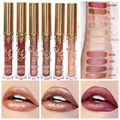 New Arrival Shimmer Liquid Lipstick Professional Waterproof Matte Lipstick Metal Style Golden Nude Red Lips Batom Brand Makeup