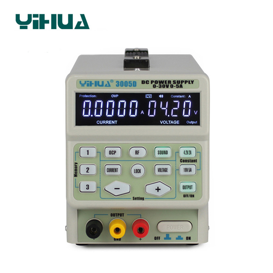 YIHUA 3005D DC alimentation réglable contrôle de programme numérique 30 V 5A régulateurs de tension commutation laboratoire DC alimentations